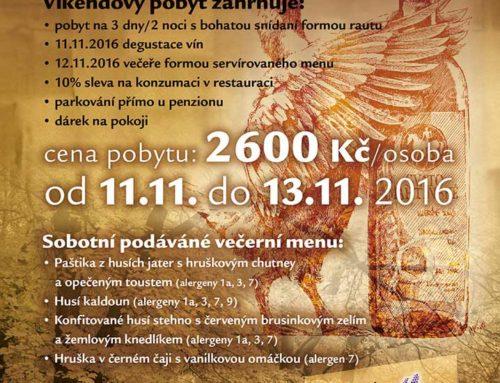 Svatomartinské víno a husím menu 2016