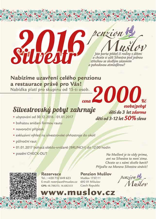 Penzion Mušlov - Silvestr 2016